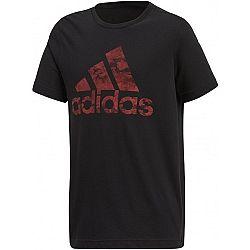 adidas BOS čierna 140 - Chlapčenské tričko