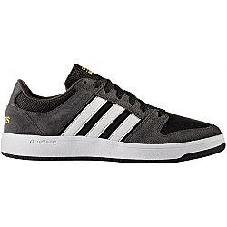 adidas CLOUDFOAM BB HOOPS tmavo šedá 11.5 - Pánska voľnočasová obuv