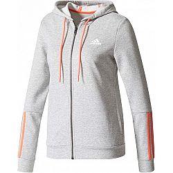 adidas COM MS FZ HOOD sivá S - Dámska mikina