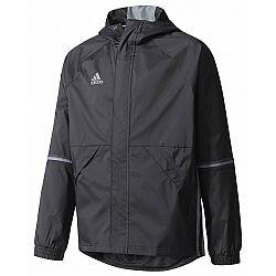 adidas CON16 RAIN JR čierna 140 - Športová bunda