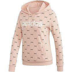 adidas CORE FAVOURITES HOODY svetlo ružová XL - Dámska mikina