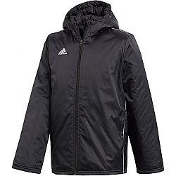 adidas CORE18 STD JKT čierna 164 - Chlapčenská  športová bunda