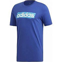 adidas E LIN BRUSH TEE modrá XL - Pánske tričko