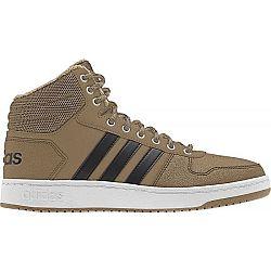 adidas HOOPS 2.0 MID béžová 7.5 - Pánska obuv na voľný čas