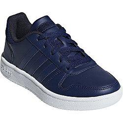 adidas HOOPS 2.0K tmavo modrá 3 - Chlapčenská voľnočasová obuv