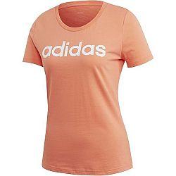 adidas LINEAR TEE 1 oranžová XL - Dámske tričko