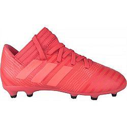 adidas NEMEZIZ 17.3 FG J červená 35 - Chlapčenská futbalová obuv