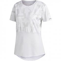 adidas OWN THE RUN TEE biela L - Dámske bežecké tričko