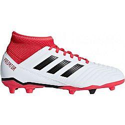 adidas PREDATOR 18.3 FG J biela 33.5 - Chlapčenská futbalová obuv