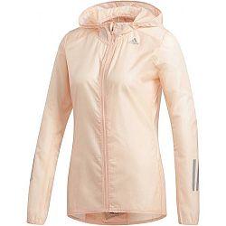 adidas RESPONSE JACKET béžová M - Dámska bežecká bunda
