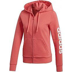 adidas W E LIN FZ HD červená L - Dámska mikina