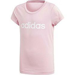 adidas YG E LIN TEE biela 140 - Dievčenské tričko