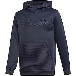 adidas YOUTH BOYS GEAR UP OVER THE HEAD HOODY tmavo modrá 164 - Chlapčenská mikina