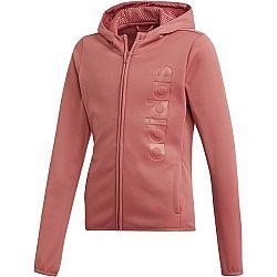 adidas YOUTH GIRLS GEAR UP FULL ZIP HOODIE ružová 164 - Dievčenská mikina
