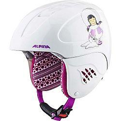 Alpina Sports CARAT ružová (48 - 52) - Detská lyžiarska prilba