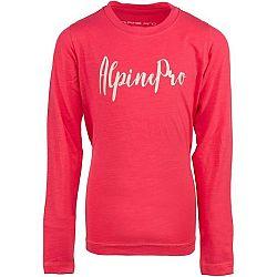 ALPINE PRO CAMRO ružová 140-146 - Detské tričko