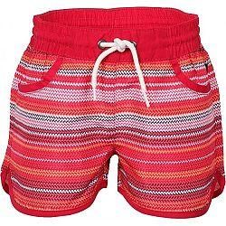 ALPINE PRO DOORO červená 140-146 - Detské šortky