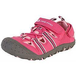 ALPINE PRO FOLEY ružová 29 - Detská letná obuv
