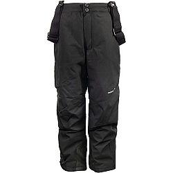ALPINE PRO FRIDO čierna 152-158 - Detské lyžiarske nohavice