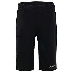 ALPINE PRO OSMORO čierna 128-134 - Detské šortky