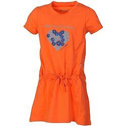ALPINE PRO TANGERINO  104-110 - Dievčenské šaty