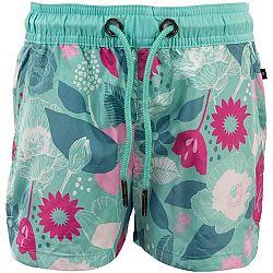 ALPINE PRO ZAVAHO svetlo zelená 128-134 - Dievčenské kúpacie šortky