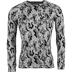 Arcore ERNO šedá L - Pánske termo tričko s dlhým rukávom