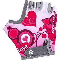 Arcore LUKE fialová 8 - Detské cyklistické rukavice
