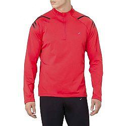 Asics ICON WINTER LS 1/2 ZIP TOP červená S - Pánske športové tričko