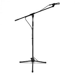 Auna KM 02, 3 x štvordielna mikrofónová sada, čierna, mikrofón, stojan, objímka, 5 m kábel
