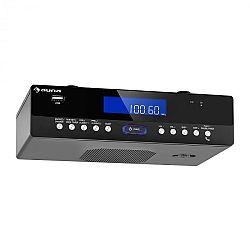 Auna KR 100 BK, zospodu zabudovateľné kuchynské rádio, bluetooth, mikrofón, USB, MP3, headset