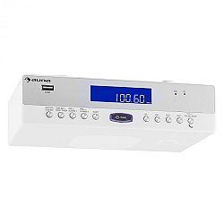 Auna KR-100 WH, kuchynské rádio, zabudovateľné, bluetooth, mikrofón, USB, MP3, hlasný odposluch