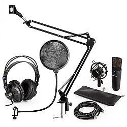 Auna MIC-920B USB mikrofónová sada V4 slúchadlá, mikrofón, mikrofónové rameno , pop filter