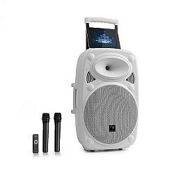 """Auna Streetstar 15, mobilné PA zariadenie, 15"""" (38 cm), 2 x UHF mikrofón, max. 1000 W, biele"""