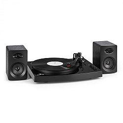 """Auna TT-Play gramofón, 2 stereo reproduktory (3""""/10W) BT 33 1/3 a 45 otáčok/min, čierna farba"""