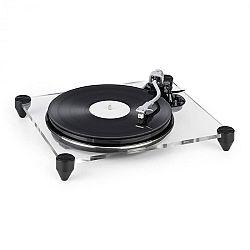 Auna TT-Pure, gramofón, akrylové sklo, 33 1/3 a 45 ot./min., predzosilňovač