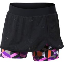 Axis FITNESS SKIRT čierna 140 - Dievčenské fitness šortky so sukňou 2 v 1