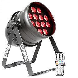 Beamz BPP220, LED PAR reflektor, 64 12 x 12 W 4-v-1 LED diód, vrátane diaľkového ovládača