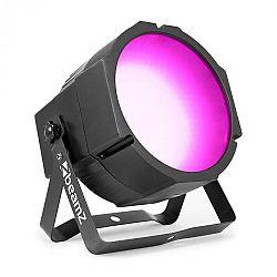 Beamz BS271F Flat Par, LED reflektor, 271 RGB SMD LED svetiel, DMX alebo samostatný režim, LED displej