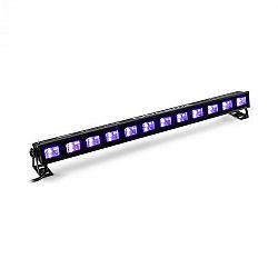 Beamz BUVW123, LED svetelná rampa, 8 x 3 W, UV/WW, 2 v 1, 30 W, čierna