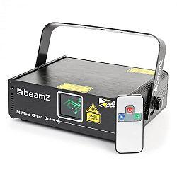 Beamz Mimas, svetelný laser, showlaser, zelený 50 mW laser, 9 DMX kanálov, master/slave, ovládanie hudbou, diaľkový ovládač