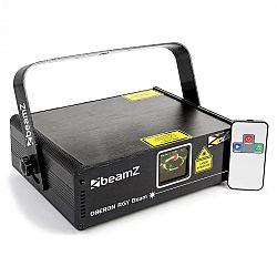 Beamz Oberon II, svetelný laser, RGY, 9 DMX kanálov, 230 mW, master/slave, diaľkový ovládač