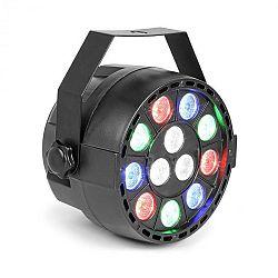 Beamz Party, UV Par reflektor, 15 W, 12 x UV LED dióda, DMX režim a samostatná prevádzka, LED displej, čierny