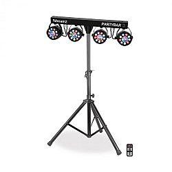 Beamz Partybar 3, kompletný systém osvetlenia, 85 W, RGB, DMX/samostatná prevádza, stojan, čierny