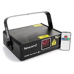 Beamz Thebe, svetelný laser, showlaser, červený 150 mW laser, 9 DMX kanálov, master/slave, automatický režim, IR diaľkový ovládač