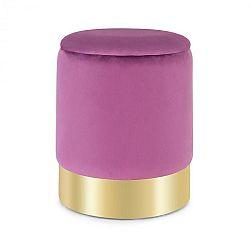 Besoa Gigi, taburetka, 38 x 31 cm (V x Ø), úložný priestor, zamat, fialová