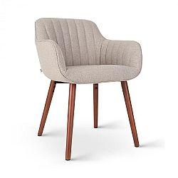 Besoa Iris, čalúnená stolička, penová výplň, polyester, drevené nohy, sivá melírovaná