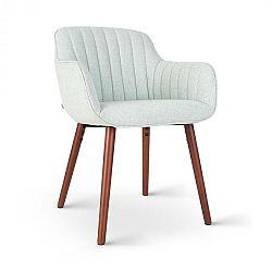 Besoa Iris, čalúnená stolička, penová výplň, polyesterový poťah, drevené nohy, svetlozelená