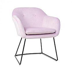 Besoa Zoe, čalúnená stolička, penová výplň, polyesterový poťah, zamat, oceľ, ružová