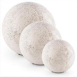 Blumfeldt Gemstone M-XL, záhradné svietidlo, sada svietiacich gulí, 3 vonkajšie svietidlá, vzhľad prírodného kameňa